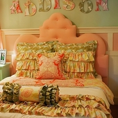 Amelia Scalloped Queen Headboard in Pink