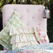 Amelia Tufted Twin Headboard in Pink