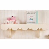 Antique White Scalloped Wall Shelf