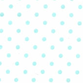 Aqua Polka Dot Fabric