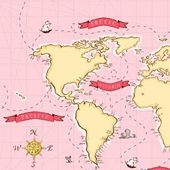 Around the World in Pink Fabric
