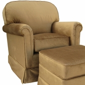 Aspen Bark Adult Continental Glider Rocker Chair - Foam or Down