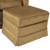 Aspen Bark Adult Continental Ottoman - Stationary or Glider