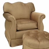 Aspen Bark Adult Empire Glider Rocker Chair - Foam or Down