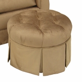 Aspen Bark Adult Park Avenue Round Stationary Ottoman