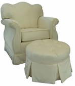 Aspen Cream Adult Empire Glider Rocker Chair - Foam or Down
