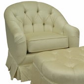 Aspen Cream Adult Park Avenue Petite Glider Rocker Chair - Foam or Down