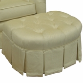 Aspen Cream Adult Park Avenue Petite Stationary Ottoman
