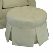 Aspen Cream Adult Park Avenue Round Stationary Ottoman