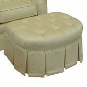 Aspen Cream Adult Park Avenue Stationary Ottoman