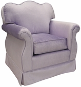 Aspen Lilac Adult Empire Glider Rocker Chair - Foam or Down