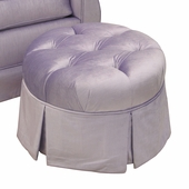 Aspen Lilac Adult Park Avenue Round Tufted Stationary Ottoman