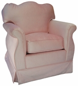Aspen Pink Adult Empire Glider Rocker Chair - Foam or Down