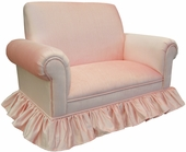 Aspen Pink Child Club Loveseat