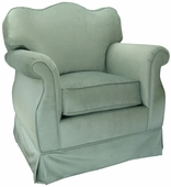Aspen Seafoam Adult Empire Glider Rocker Chair - Foam or Down