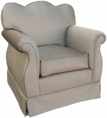 Aspen Silver Adult Empire Glider Rocker Chair - Foam or Down