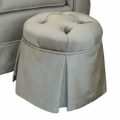 Aspen Silver Child Princess Round Tufted Ottoman