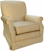 Aspen Taupe Adult Club Glider Rocker Chair - Foam or Down