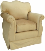 Aspen Taupe Adult Empire Glider Rocker Chair - Foam or Down
