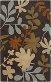 Autumn Leaves Dark Cosmopolitan Hand-Tufted Rug
