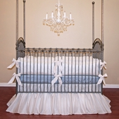 Avalon Blue Crib Bedding