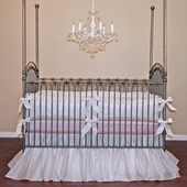 Avalon Pink Crib Bedding