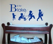 B is For Blake Custom Personalized Wall Decal