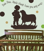 Baa Baa Black Sheep Boy Custom Wall Decal