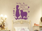 Baa Baa Black Sheep Girl Custom Wall Decal