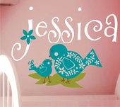 Baby Bird Custom Personalized Wall Decal