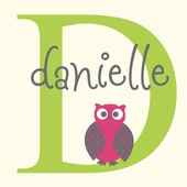 Baby Owl Lime Personalized Canvas Wall Art
