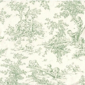 Baby Toile Green Fabric