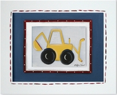 Backhoe Custom Framed Giclee Print