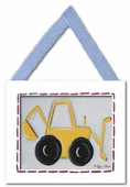 Backhoe Framed Giclee Print