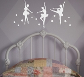 Ballerina Trio Custom Wall Decal