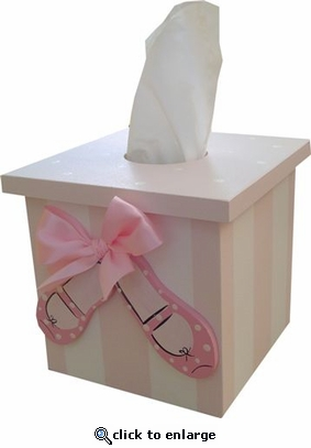 Ballet Shoes Tissue Box Cover