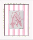Ballet Slippers Custom Framed Giclee Print