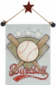 Baseball Hand Painted Canvas Banner