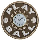 Baseball Play Ball Wall Clock