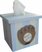 Baseball Tissue Box Cover