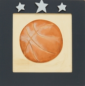 Basketball in Blue 3D Layered Art