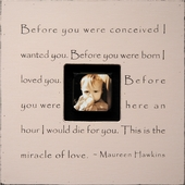 Before You Were Conceived Photobox Frame