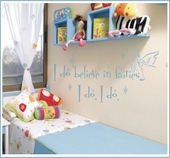 Believe in Fairies Custom Wall Decal