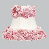 Bell-Shape Off-White with Pink Rose Garden Large Lamp Shade