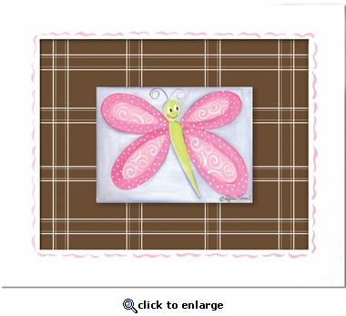 Bella Butterfly Custom Framed Giclee Print