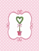 Bella Heart Topiary Canvas Wall Art