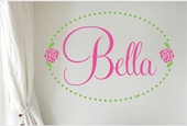 Bella Rose Custom Personalized Wall Decal