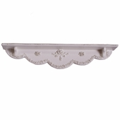 Bella Rose Ribbon Wall Shelf