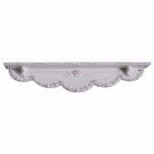 Bella Rose Scroll Wall Shelf