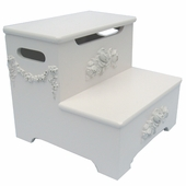 Bella Rose Storage Step Stool
